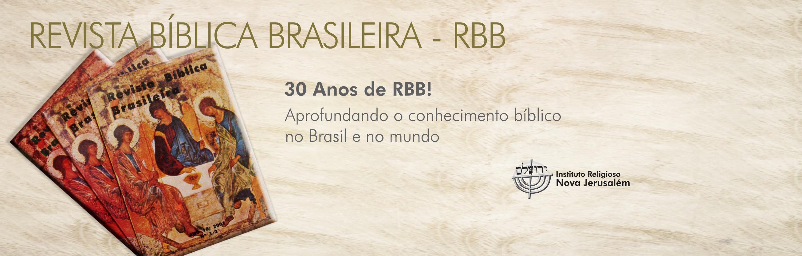 Revista Bíblica Brasileira - RBB